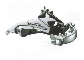 MENJAČ PREDNJI SHIMANO TOURNEY FD-TY500-TS6 3X6/7 SA ŠELNOM 34.9mm (+28.6/31.8 ADPT) 42T TOP TOP-SWING DUAL-PULL