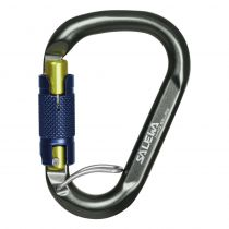 KARABINER SALEWA BELAY TWIST LOCK grey-magnet