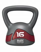 KETTLEBELL BW-117 16kg grey-burgundy