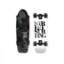SKATEBOARD STREET SURFING CRUISER KICKTAIL white soul