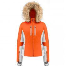 JAKNA PB W21-0800-WO/A STRETCH SKI FAKE FUR multico puffin orange M