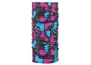 BANDANA VIKING SHAPES black-blue-pink